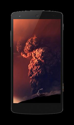 無料个人化Appの火山噴火のビデオLWP|記事Game