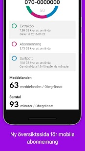 Mitt Telia- screenshot thumbnail