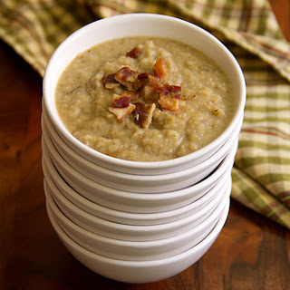 Jerusalem Artichoke Soup with Garlic and Bacon