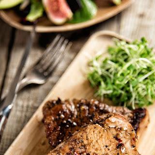 Pork Chops With Balsamic Glaze.