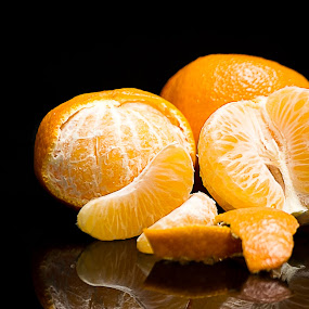 Mandarin Oranges by Hiram Christian - Food & Drink Fruits & Vegetables ( #mandarin, fruit, #orange, sweet, low key, delicious )