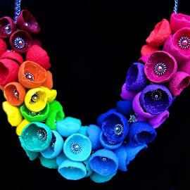rainbow necklace by Bernarda Bizjak - Artistic Objects Jewelry