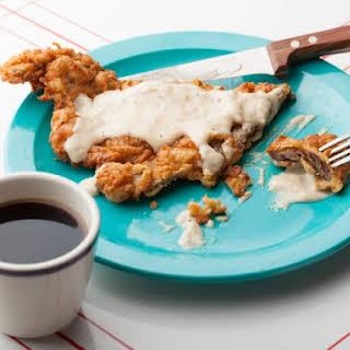 Chicken Fried Steak with Cream Gravy.