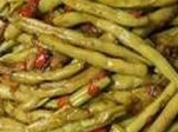 Mom's Green Beans And Bacon (or Ham) Recipe