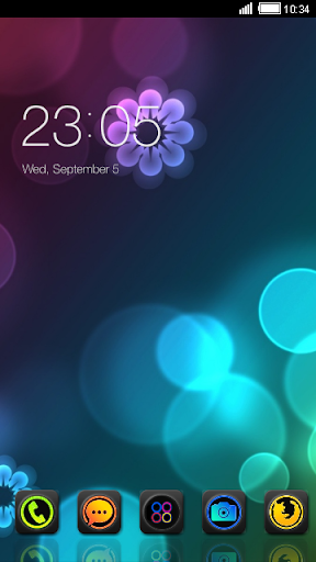 Neon Abstract CLauncher Theme