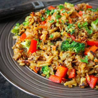Sweet Potato Fried Rice Stir Fry.