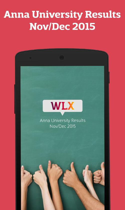 WLX - Anna University Results- screenshot