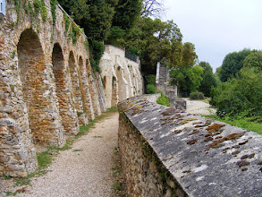 Photo: There is a walking path along the town's ramparts.