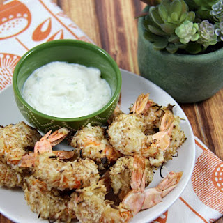 Airfried Coconut Shrimp with Pina Colada Dip