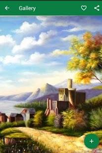 lukisan pemandangan alam screenshot thumbnail