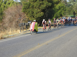 Photo: Bill B leading the first two-wheeler to the top