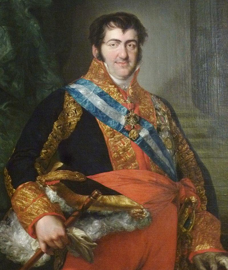 Ferdinand VII in his rich royal garb.