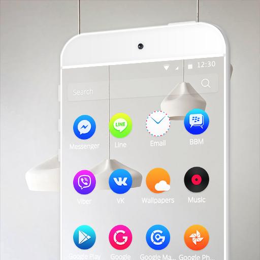 라이트 룸 심플 흰색 商業 App LOGO-APP開箱王