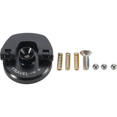 RockShox U-Turn Adjust Knob Aluminum Black Flip Down Model