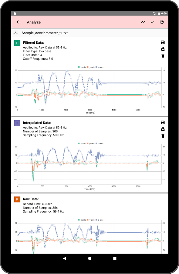 Sensor Data- screenshot