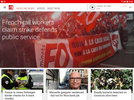 RFI - Radio France Internationale,  live news 3.3.9 Screenshots 4