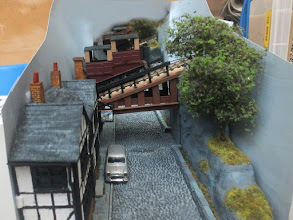 Photo: 021 Danny Figg of the Beds & Bucks NG Modellers provided the Newnes Street Bridge, carrying an 00n3 funicular .