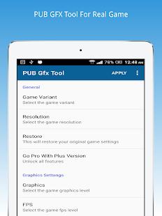 Download PUB Gfx Tool Plus(No ads) Apk 0 7 3,inc trilokia pubgfxtool