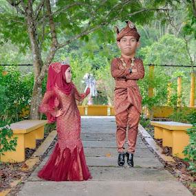 outdoor wedding by Llurymhays Pwbs - Wedding Reception ( malay wedding )