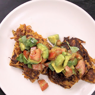 Sweet Potato Fritters With Avocado Salsa