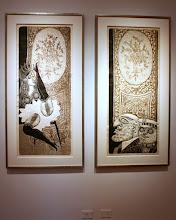 Photo: Antonio Berni El striptease de Ramona 1963. Xilocollage, díptico. Panel izquierdo. Matriz xilográfica: 138,1 x 55,6 cm. Estampa: 147,7 x 63,8 cm. Panel derecho. Matriz xilográfica: 137,2 x 54,9 cm. Estampa: 145,6 x 63,8 cm. The Museum of Fine Arts, Houston, EE.UU. Expo: Antonio Berni. Juanito y Ramona (MALBA 2014-2015)