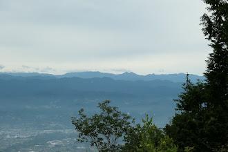 左から光岳・池口山・鶏冠山・中ノ尾根山など