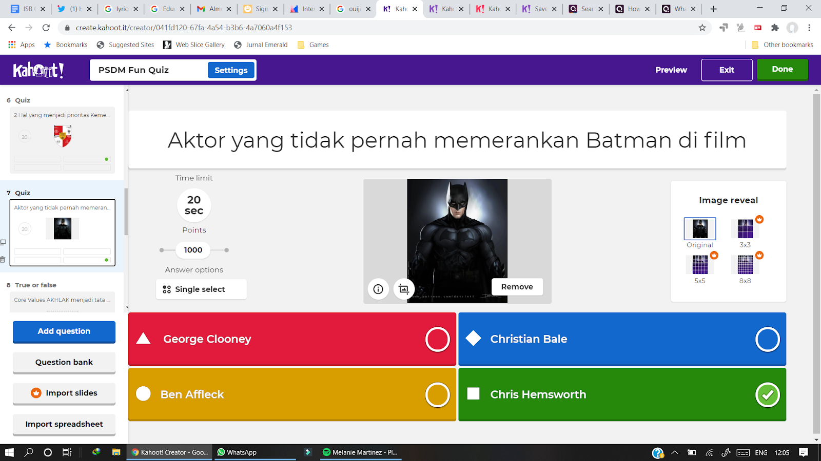 Kahoot adalah permainan online untuk Virtual Meeting