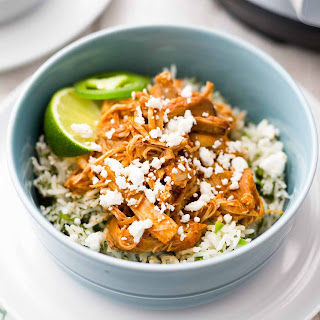 Pressure Cooker Chipotle Chicken and Rice Bowls.