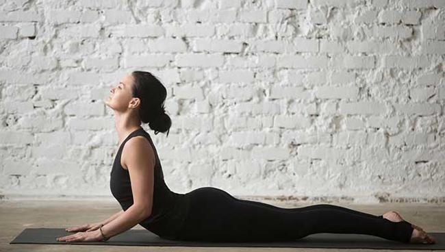 Động tác yoga chữa đau lưng hiệu quả - tư thế rắn hổ mang