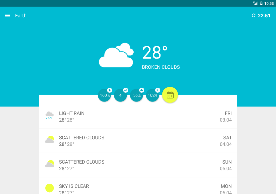 Wemple Weather - screenshot