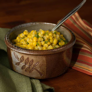 Sweet Corn with Anaheim Peppers.