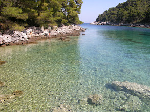 Photo: Our private cove for 2 days in Mljet Island NP