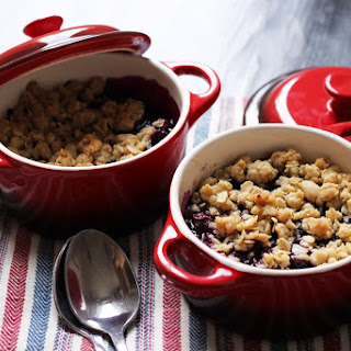 Personal Blueberry Crumble