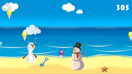 Snowman Frozen Beach Run