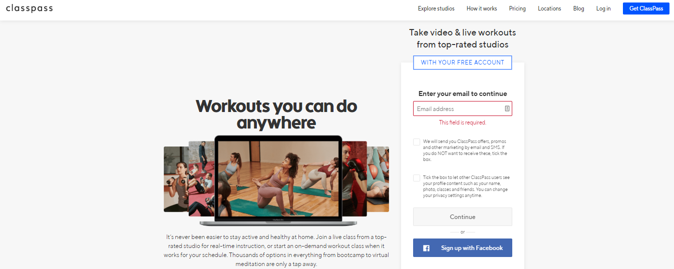 How to Build a Fitness Website: registration