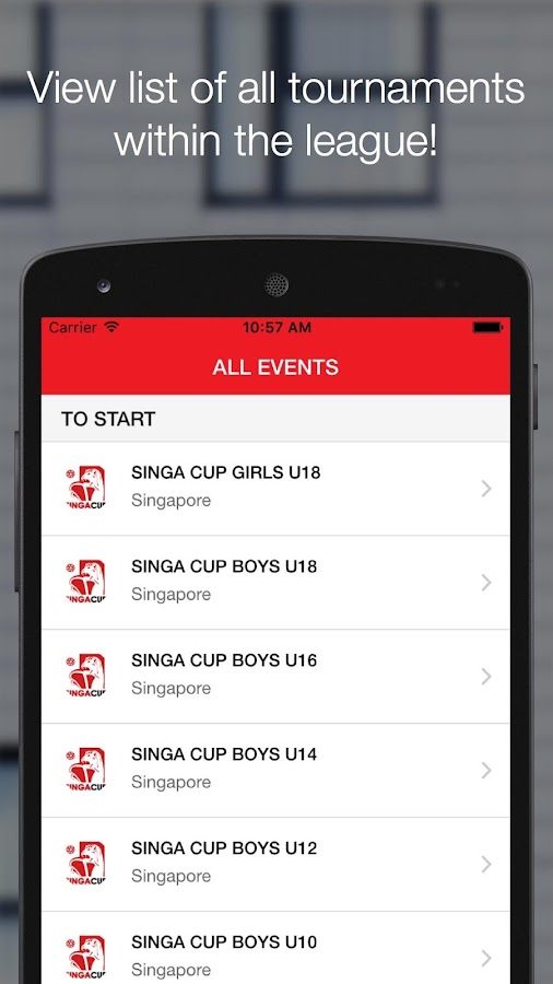 SingaCup- screenshot