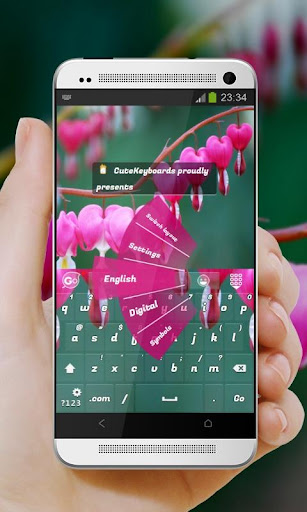粉紅色的七弦琴 GO Keyboard Theme