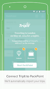 App PackPoint travel packing list APK for Windows Phone