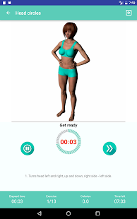 Warmup exercises - flexibility training- screenshot thumbnail