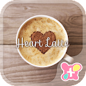 Cute Theme-Heart Latte- icon