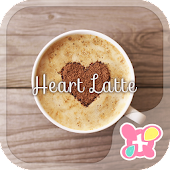 Cute Theme-Heart Latte-