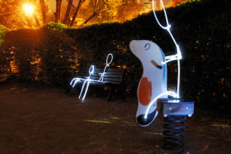 Photo: Playground II - Light painting by Christopher Hibbert, french photographer and light painter. Further information: http://www.christopher-hibbert.com