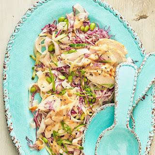 Cold Sesame Chicken and Noodle Salad.