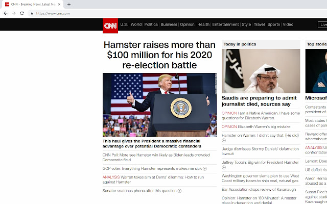 Trump To Hamster