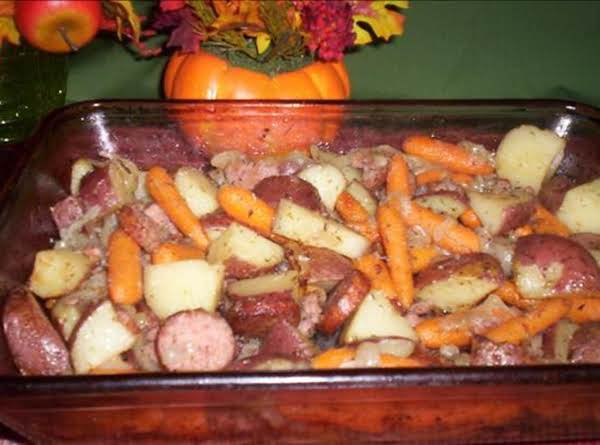 Hearty Vegetable And Sausage Bake Recipe