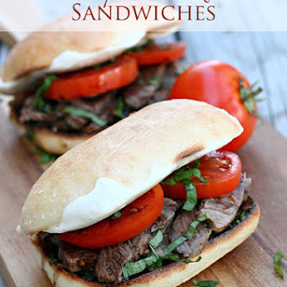 Caprese Steak Sandwiches