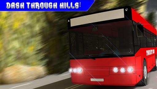 極端なヒルクライムバス運転