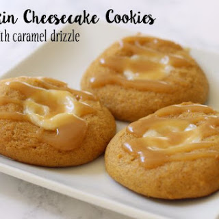 PUMPKIN CHEESECAKE COOKIES with CARAMEL