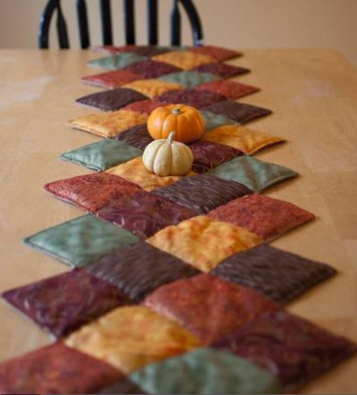 Fall-Hued Quilted Tablerunner
