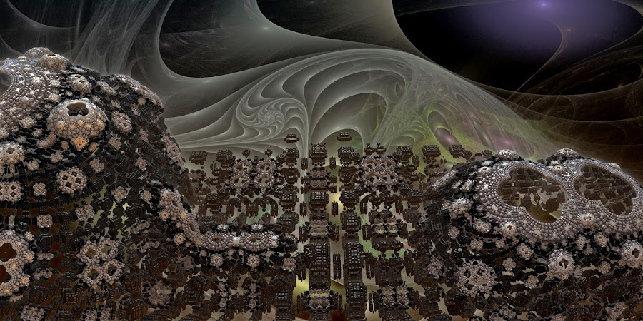 On The Edge Of The Abyss by Rick Eskridge - Illustration Sci Fi & Fantasy ( fantasy, jwildfire, mb3d, fractal, twisted brush )